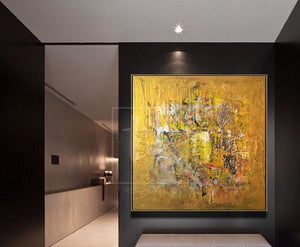 Best gold painting ideas for interior wall art
