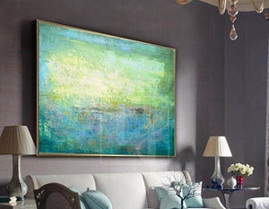 How to decorate a bedroom with canvas art painting
