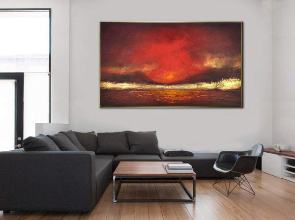 https://trendgallery.art/products/abstract-oil-painting-oversize-abstract-paintings-on-canvas-red-painting-gold-leaf-painting-original-modern-art-fire-sky