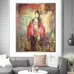 Original Abstract Girl Painting Creative Gold Leaf Paintings On Canvas Girl | EASTERN VISIONS