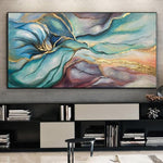 Gold Leaf Painting Abstract Painting Modern Abstract Artwork | SILK CLOUDS