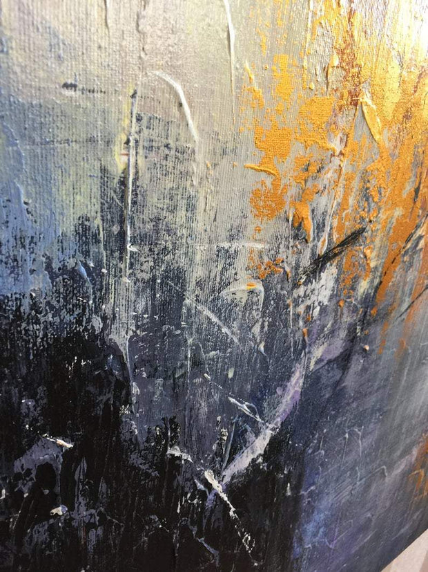 Autumn Abstract Painting Gold and White Art | AUTUMN MEMORY - Trend Gallery Art | Original Abstract Paintings
