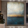 Abstract Blue Painting Gray Painting Landscape Painting Sunset Painting Ocean Painting | WATERSCAPE - Trend Gallery Art | Original Abstract Paintings