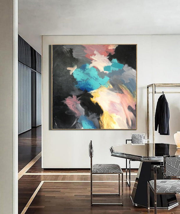 Acrylic Painting On Canvas Large Colorful Wall Art Frame Original Artwork Abstract Wall Painting For Living Room | MAP OF MY MEMORIES - Trend Gallery Art | Original Abstract Paintings