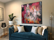 Extra Large Wall Art Canvas Abstract Colorful Paintings On Canvas Modern Art Painting Nursery Wall Decor | A ROSE GARDEN - Trend Gallery Art | Original Abstract Paintings