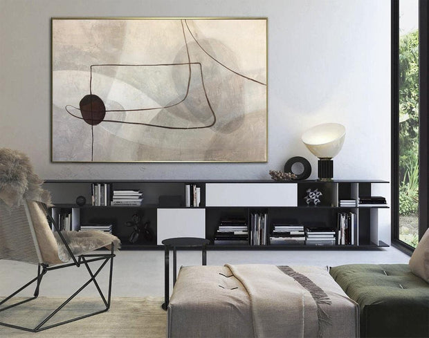Large Abstract Painting On Canvas Original Abstract Painting | SECRETS OF TIME - Trend Gallery Art | Original Abstract Paintings