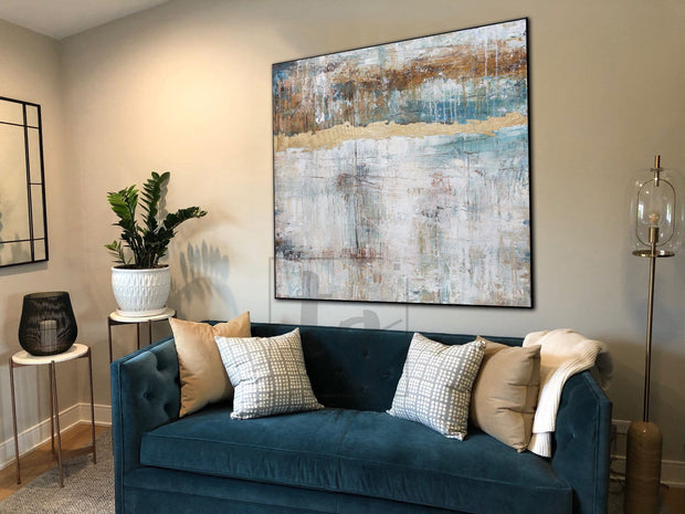 Abstract Acrylic Painting On Canvas Original Brown Painting Gray Painting Contemporary Art | FASCINATING LEGEND - Trend Gallery Art | Original Abstract Paintings
