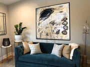 Abstract Beige Painting Black Painting Artwork Original Acrylic Painting Modern Canvas Art | PERPETUUM MOBILE - Trend Gallery Art | Original Abstract Paintings