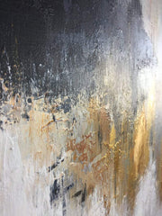 Gray Painting Gold Painting Contemporary Art Abstract Acrylic Painting On Canvas | FETTERS OF THE SOUL - Trend Gallery Art | Original Abstract Paintings