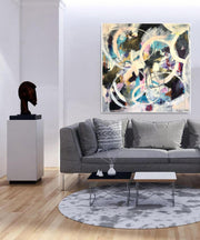 Black and White Abstract Art  | CRYSTAL