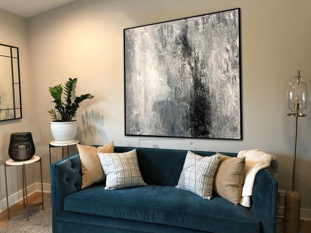 Extra Large Wall Art Canvas Contemporary Artwork Creative Abstract Paintings On Canvas | GHOSTLY VISION - Trend Gallery Art | Original Abstract Paintings
