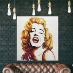 Marilyn Monroe Portrait Abstract Painting Norma Jean Portrait | NORMA JEANE