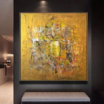 Abstract Painting in Gold, Yellow and Brown | GOLDEN COIN
