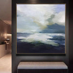 Abstract   Painting Oversized Painting Blue Painting Gray Painting White Painting Ocean Painting | BOUNDLESS HORIZON