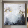 Abstract Painting in Grey, White and Gold Leaf | SOMEWHERE IN THE HEAVEN - Trend Gallery Art | Original Abstract Paintings