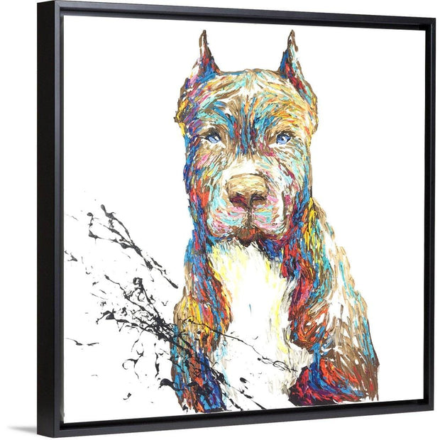 Abstract Pit Bull Dog Painting Modern Pit Bull Dog Artwork Animal Abstract Unique American | FIDELITY - Trend Gallery Art | Original Abstract Paintings