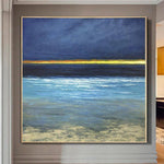 Ocean Painting Sunset Painting Modern Art Landscape Painting Blue Abstract Painting | FAR HORIZON