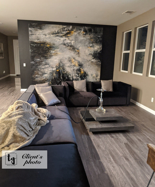 Oversized Abstract Painting Original Wall Painting Black and White Painting Abstract Acrylic Paintings On Canvas | DEVELOPMENT - Trend Gallery Art | Original Abstract Paintings