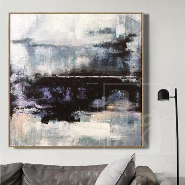 Abstract Art in Black and White | WATER REFLECTION - Trend Gallery Art | Original Abstract Paintings