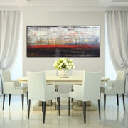 Abstract Art in White, Black and Red | ALL-CONSUMING PASSION - Trend Gallery Art | Original Abstract Paintings