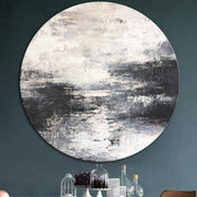 Abstract Black And White Painting Oversize Abstract Wall Art Acrylic Painting On Canvas | FOGGY DAY - Trend Gallery Art | Original Abstract Paintings