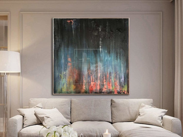 Abstract Oil Painting On Canvas Canvas Painting Original Black Painting Office Painting | SANCTUARY - Trend Gallery Art | Original Abstract Paintings