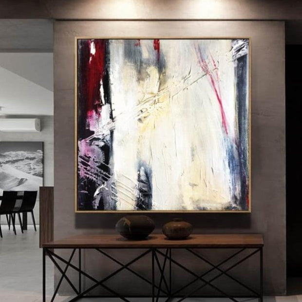 Abstract Painting Large Black And White Red Painting Oil Canvas Painting Contemporary Art | TWILIGHT DREAMS - Trend Gallery Art | Original Abstract Paintings