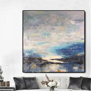 Abstract Painting Original Large Blue Painting Large Abstract Oil Painting | BEYOND THE CLOUDS - Trend Gallery Art | Original Abstract Paintings