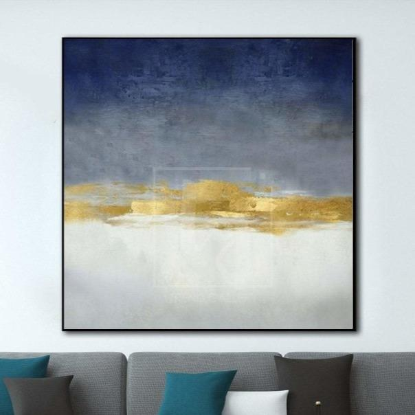 Abstract Paintings On Canvas Original Blue Painting Office Painting | DARLING - Trend Gallery Art | Original Abstract Paintings