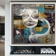 Abstract Street Art Unique Graffiti Artwork Contemporary Street Art Creative Skull Painting | SELECTION - Trend Gallery Art | Original Abstract Paintings