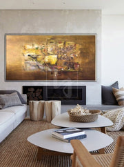 Abstract Texture Painting Gold Painting Art Painting Original Oil Canvas Painting | GOLDEN ELEGANCE - Trend Gallery Art | Original Abstract Paintings