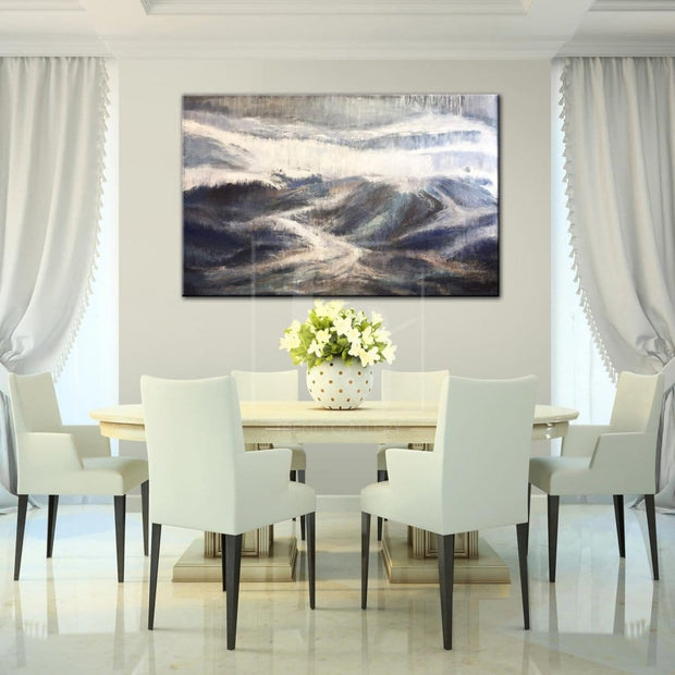 Alaska Mountains Gray Painting Landscape Painting Painting On Canvas | GREAT MOUNTAINS - Trend Gallery Art | Original Abstract Paintings