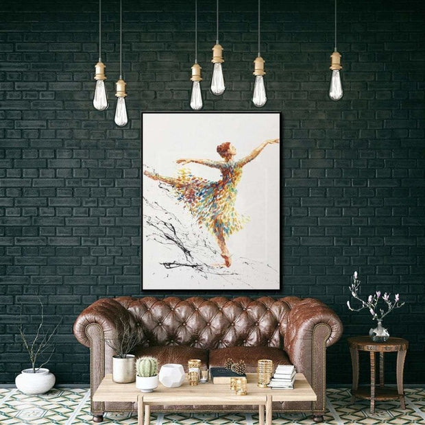 Ballerina Abstract Artwork Large Ballerina Painting Dancing Girl Oil Painting | BALLERINA ORSOLA - Trend Gallery Art | Original Abstract Paintings