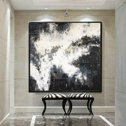 Black And White Oil Painting Abstract Painting Black White Painting | DEVELOPMENT - Trend Gallery Art | Original Abstract Paintings