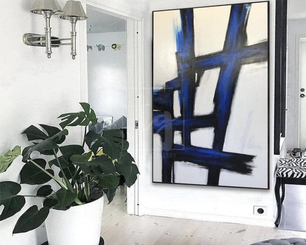 Black And White Oil Painting Modern Oil Painting On Canvas Abstract Painting Black White Artwork | BRAINTEASER - Trend Gallery Art | Original Abstract Paintings
