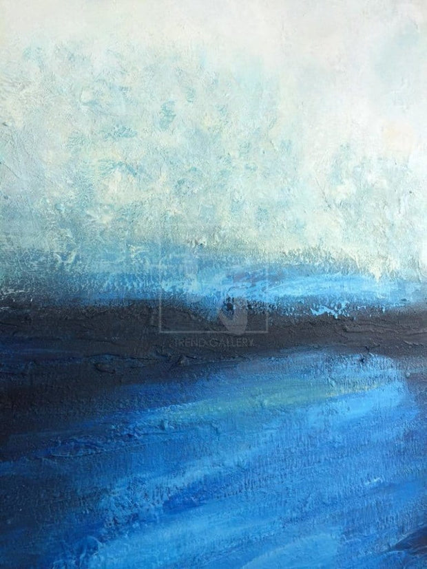 Blue Sea Abstract Paintings On Canvas Modern Acrylic Painting Ocean Abstract | SEA HORIZON - Trend Gallery Art | Original Abstract Paintings