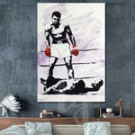 Boxer Large Canvas Painting Mohammed Ali Painting Modern Boxer Canvas Painting | BOXER OF THE YEAR