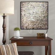 Brown Painting Original Abstract Paintings On Canvas Beige Painting | GREAT WALL OF CHINA