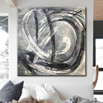 Abstract Painting in Black and White | WHIRLPOOL