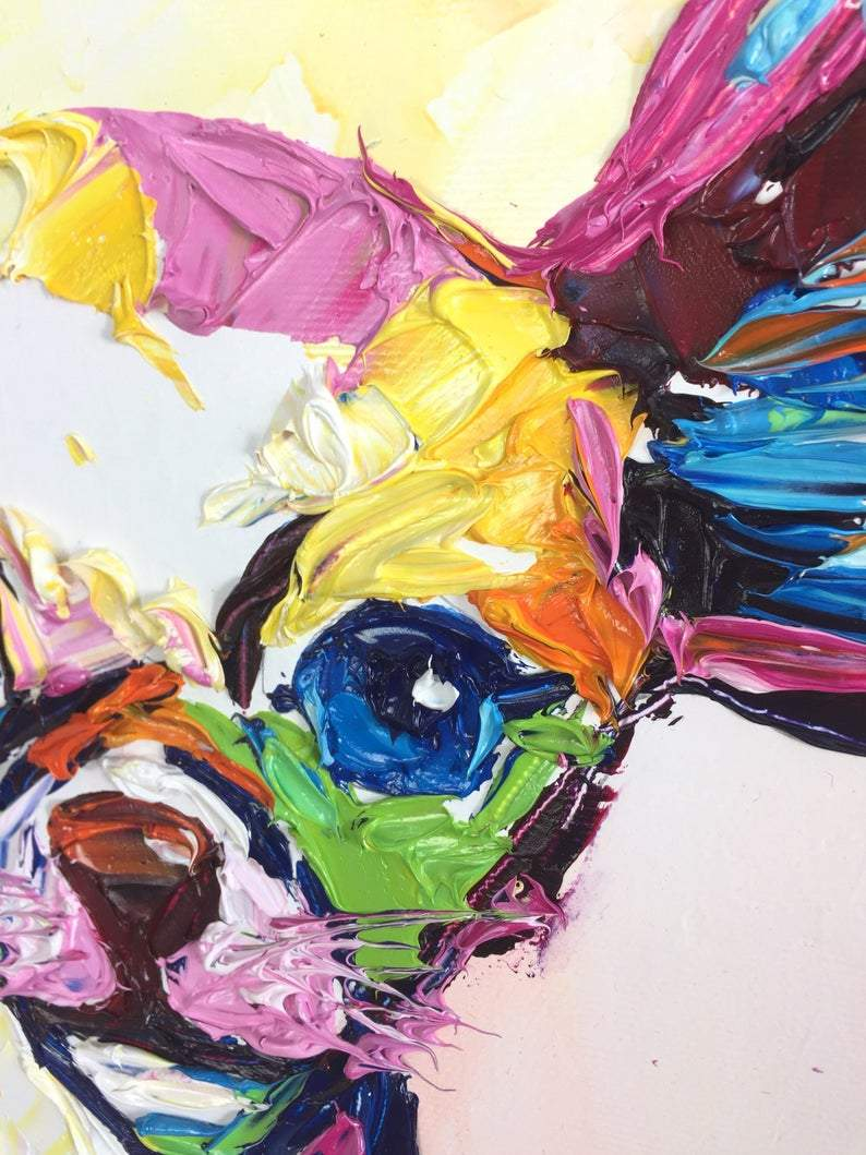 Original Dog Painting Chihuahua Painting Artwork Chihuahua Colorful Pa Trend Gallery Art Original Abstract Paintings