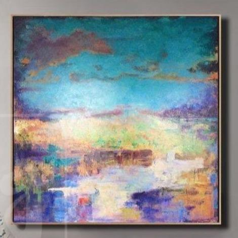 Colorful Painting Blue Painting Landscape Painting Purple Painting Orange Painting | SCENIC LANDSCAPE - Trend Gallery Art | Original Abstract Paintings