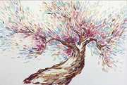 Tree Canvas Painting Sakura Tree Abstract Art Abstract Tree Artwork Tree Painting | CHERRY BLOSSOMS - Trend Gallery Art | Original Abstract Paintings
