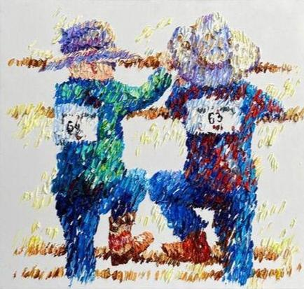 Cowboys Painting For Living Room Large Creative Painting Abstract | ANTICIPATION - Trend Gallery Art | Original Abstract Paintings