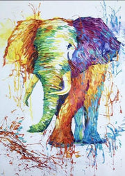 Elephant wall art Animal oil paintings on canvas Oil painting Elephant artwork | FESTIVAL ELEPHANT - Trend Gallery Art | Original Abstract Paintings