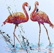 Modern Flamingo Painting On Canvas Flamingo Oil Painting Abstract Flamingo Original Artwork Contemporary Oil Artwork | FLAMINGOS - Trend Gallery Art | Original Abstract Paintings