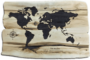 World Map Wood Carved Wall Art Office Decor Engraved Wooden Map Wall Hanging Decor Custom Wall Hanging Customized Sign Gift For Him | WOOD DECOR# 73 - Trend Gallery Art | Original Abstract Paintings