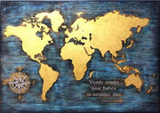 Wooden Map Of The World Custom Sign Wood Burning Art Carved Wood Wall Decor Gift For Him Wood Wall Art World Map Engraved Wood Carved Panel - Trend Gallery Art | Original Abstract Paintings