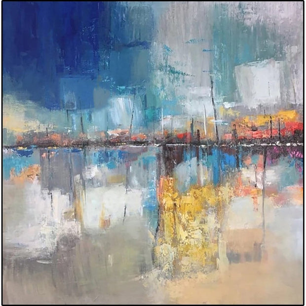 Original Abstract Painting Oversized Painting Colorful Painting | WHARF - Trend Gallery Art | Original Abstract Paintings