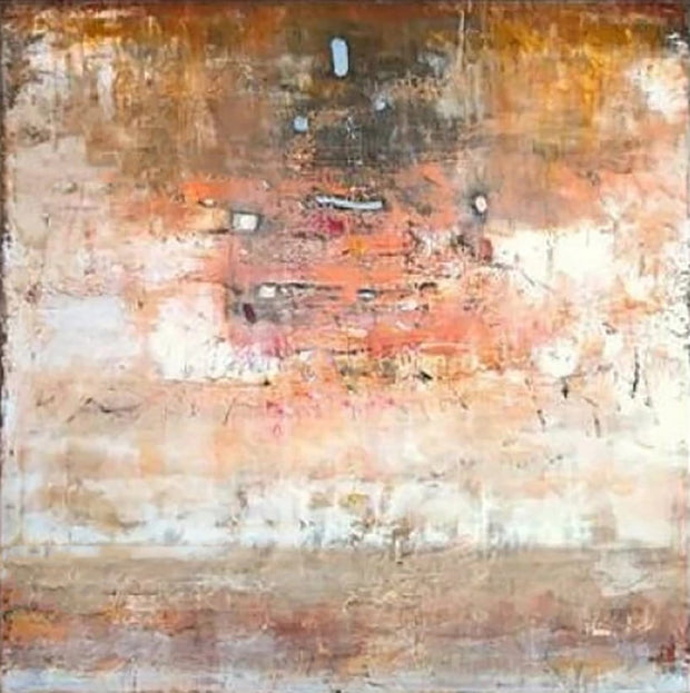 Large Abstract Painting On Canvas Brown Painting Orange Painting | AUTUMN MOOD - Trend Gallery Art | Original Abstract Paintings