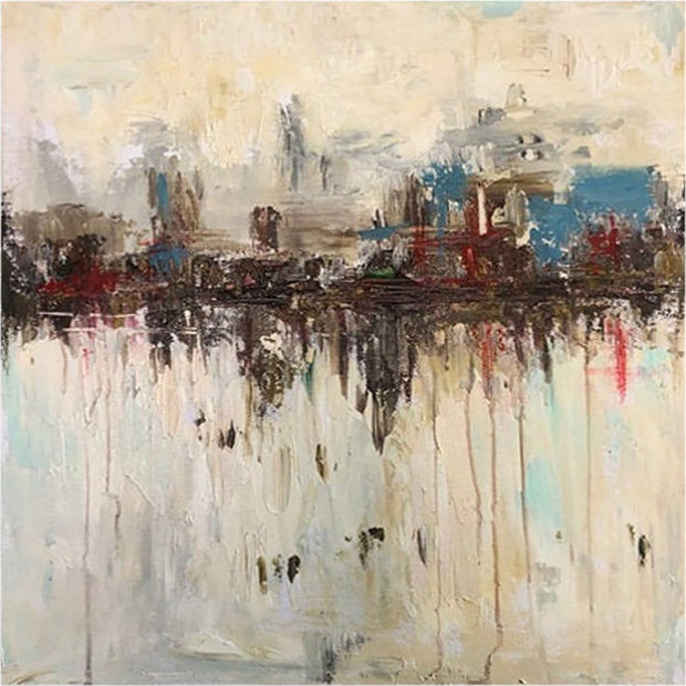 Original City Abstract Paintings On Canvas Large Abstract Painting | HIDDEN ATTRACTION - Trend Gallery Art | Original Abstract Paintings